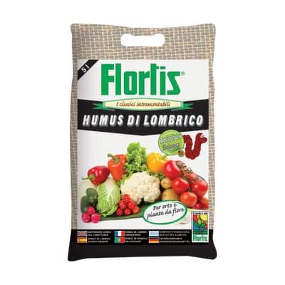 Humus di lombrico polvere FLORTIS 5 L