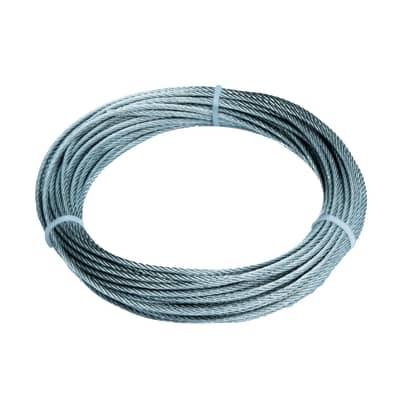 Cavo per argani 49 fili in acciaio zincato Ø 2 mm x 9 m