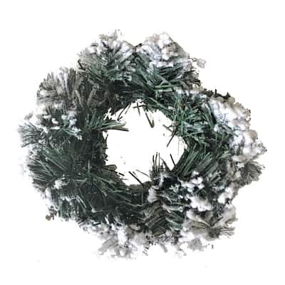 Ghirlanda bianco e verde Ø 45 cm