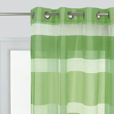 Tenda Stripe verde occhielli 140 x 280 cm