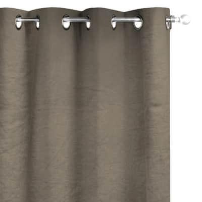 Tenda INSPIRE Lino marrone occhielli 140 x 280 cm