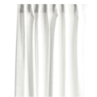 Tenda INSPIRE Lino bianco fettuccia con passanti nascosti 140x280 cm