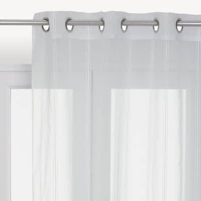 Tenda INSPIRE Newliza bianco occhielli 140x280 cm