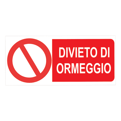 Cartello segnaletico Divieto di ormeggio pvc 31 x 14 cm