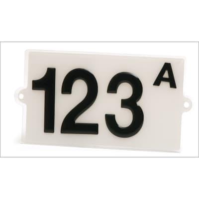 Cartello segnaletico Numero civico plexiglass 17 x 9.5 cm
