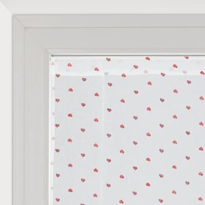 Tendina a vetro regolabile Andorra bianco e rosso tunnel 60 x 150 cm