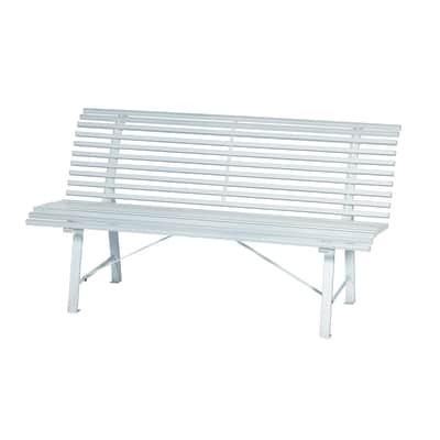 Panche Legno Leroy Merlin.Panca 3 Posti In Acciaio Park Colore Bianco Prezzi E Offerte