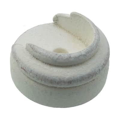 Supporto singolo aperto aspen in legno bianco decapato, 2 pezzi