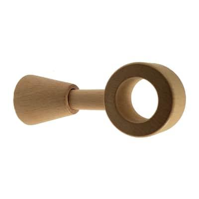 Supporto singolo chiuso Ø28mm Parigi in legno rovere naturale 12cm