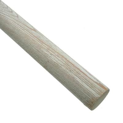 Bastone per tenda Aspen in legno Ø35mm bianco decapato 250 cm