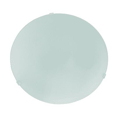 Plafoniera Pluton bianco, in vetro, diam. 25 cm, E27 MAX60W IP20
