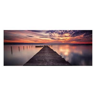 Quadro in vetro Bridge Sunset 125x50 cm