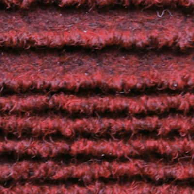 Passatoia Eco stripe , rosso, 65x65 cm