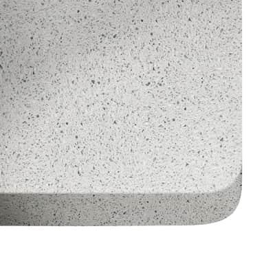 Piano cucina su misura in quarzo Stellar bianco , spessore 3 cm
