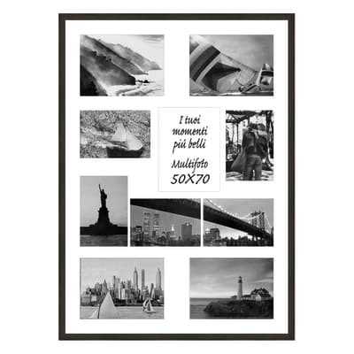 Cornice Diagonal per 10 fotografie 13 x 18 wengé