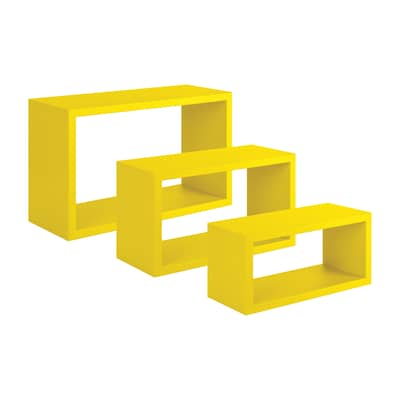 Mensola a cubo Spaceo L 45 x H 27 cm, Sp 15 mm giallo