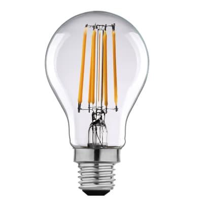 Lampadina LED filamento, E27, Goccia, Trasparente, Luce naturale, 11W=1521LM (equiv 100 W), 360° , LEXMAN