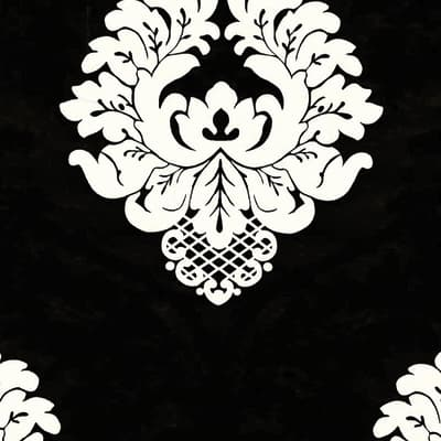 Carta da parati Damask nero
