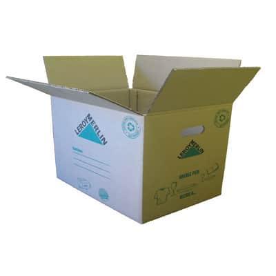 Scatola da imballaggio 2 onde L 80 x H 40 x P 50 cm
