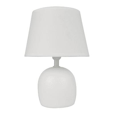 Lampada da comodino Shabby Poki bianco, in ceramica, INSPIRE