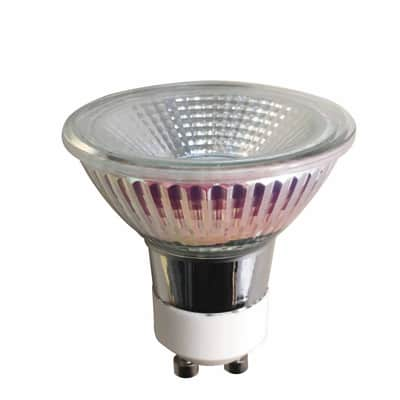 Lampadina LED, GU10, Faretto, Trasparente, Luce naturale, 5.2W=345LM (equiv 50 W), 100° , LEXMAN