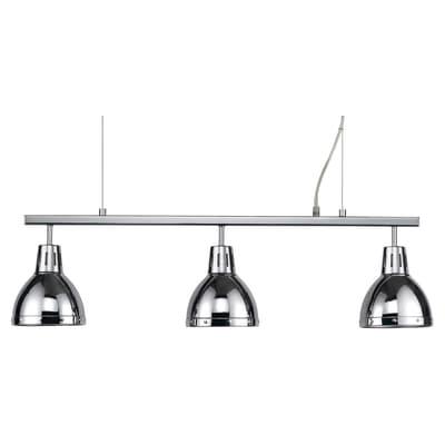 Lampadario Moderno Cynthia cromo in metallo, D. 80 cm, 3 luci, SEYNAVE