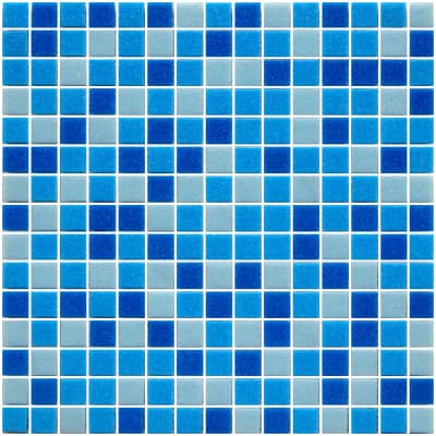 Mosaico Pool Mix Blue H 32.7 x L 32.7 cm azzurro