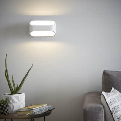 Applique design LED integrato Koper bianco, in metallo, 16 cm, INSPIRE