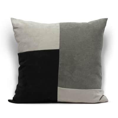 Cuscino Patchwork grigio 60x60 cm