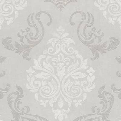 Carta da parati Damas Provenza grigio e argento
