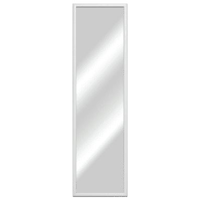 Specchio Bomber rettangolare bianco 30x130 cm