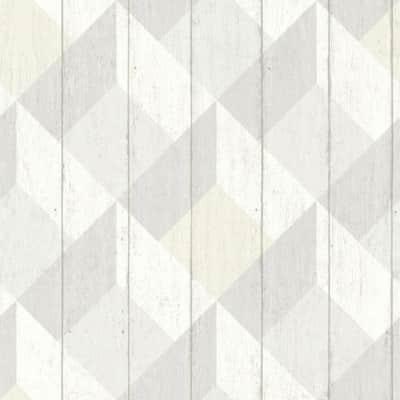 Carta da parati Rombo beige/grigio