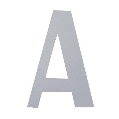 Lettera A adesivo, 7.5 x 5 cm