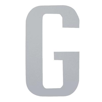 Lettera G adesivo, 15 x 10 cm