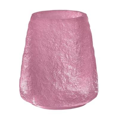 Bicchiere porta spazzolini Irina in resina rosa