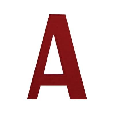 Lettera A adesivo, 15 x 10 cm