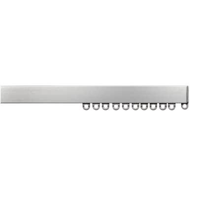 Binario per tenda arricciata, singolo, strappo, grigio / argento, in alluminio, 150 cm