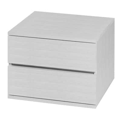 Set cassetti Logo L 55 x H 42.8 x P 50 cm bianco