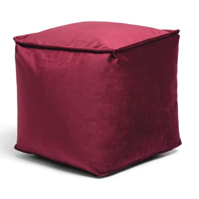 Pouf Viki rosso 45 x 45cm