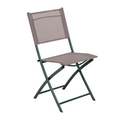 Sedia in acciaio Palma NATERIAL colore tortora