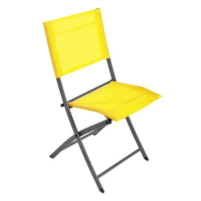 Sedia da giardino senza cuscino Denver NATERIAL colore giallo