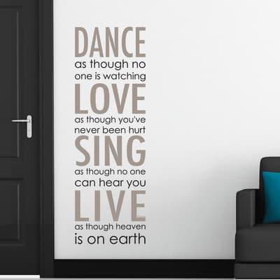 Sticker Sticker Words Up XL Dance Love Sing Live 47x67 cm