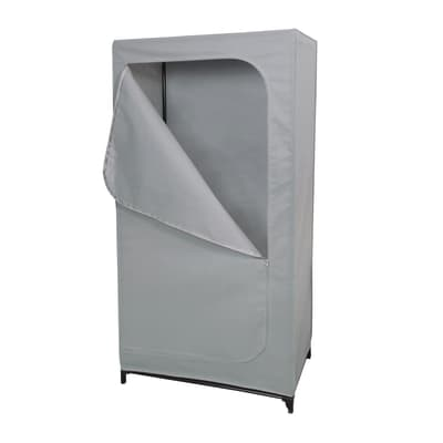 Armadio in tela L 75.0 x H 150.0 x P 45.0 cm grigio / argento