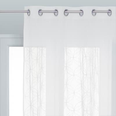 Tenda INSPIRE Abela bianco occhielli 140 x 280 cm