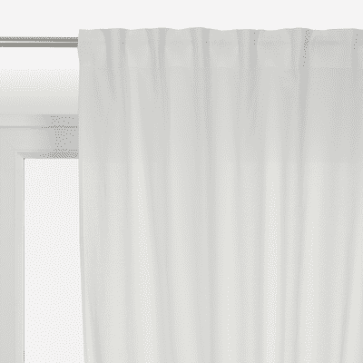Tenda INSPIRE Polycotton bianco nastro tenda con anse nascoste 140 x 280 cm