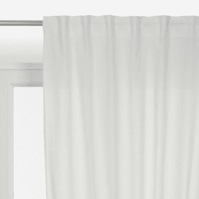 Tenda INSPIRE Polycotton bianco tape raccogliendo 140 x 280 cm