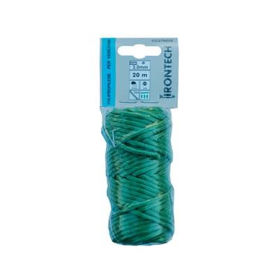 Corda a treccia in polipropilene STANDERS L 20 m x Ø 3 mm verde
