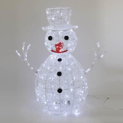 Pupazzo di neve 160 lampadine bianco freddo H 70 cm