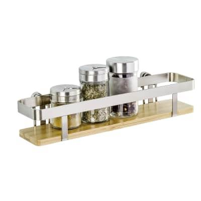 Ripiano per le spezie adesivo argento e marrone P 70 cm x L 300 x H 55 mm