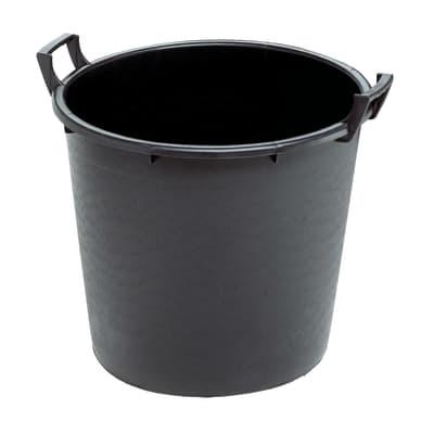 Vaso da coltura Linea professionale STEFANPLAST in polietilene colore nero H 41 cm, Ø 50 cm